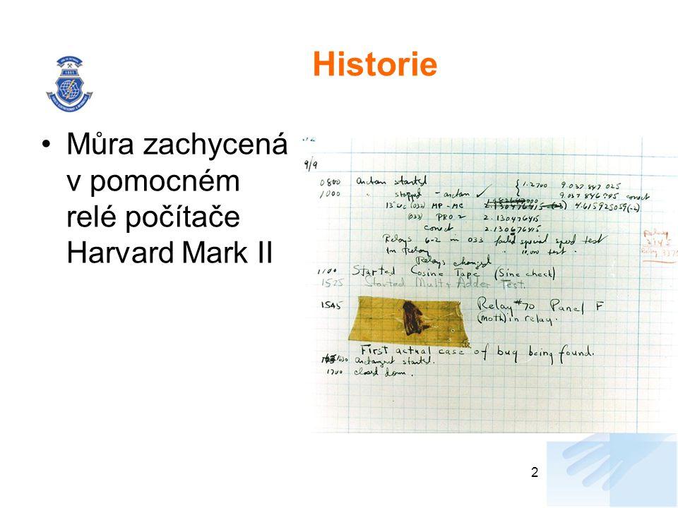 Historie Můra zachycená v pomocném relé počítače Harvard Mark II