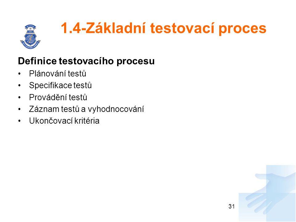 1.4-Základní testovací proces