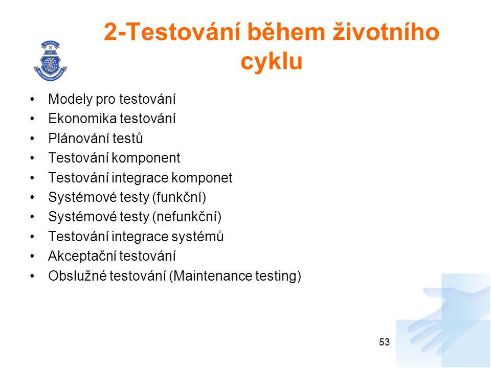 2-Testování během životního cyklu