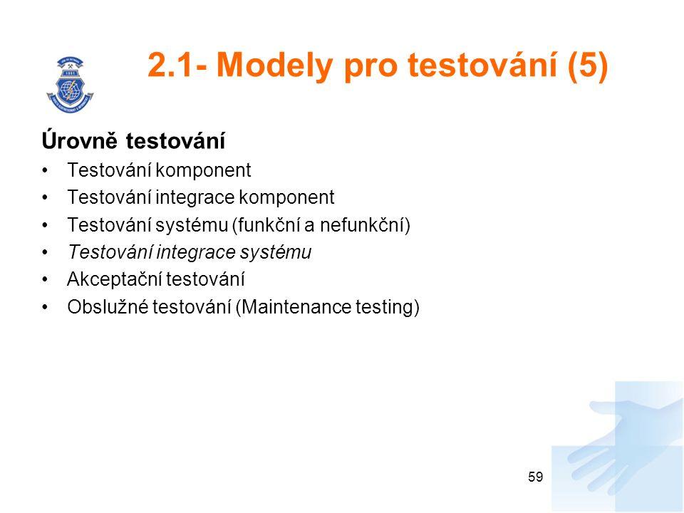 2.1- Modely pro testování (5)
