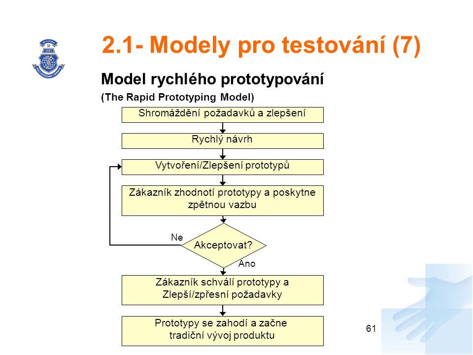 2.1- Modely pro testování (7)