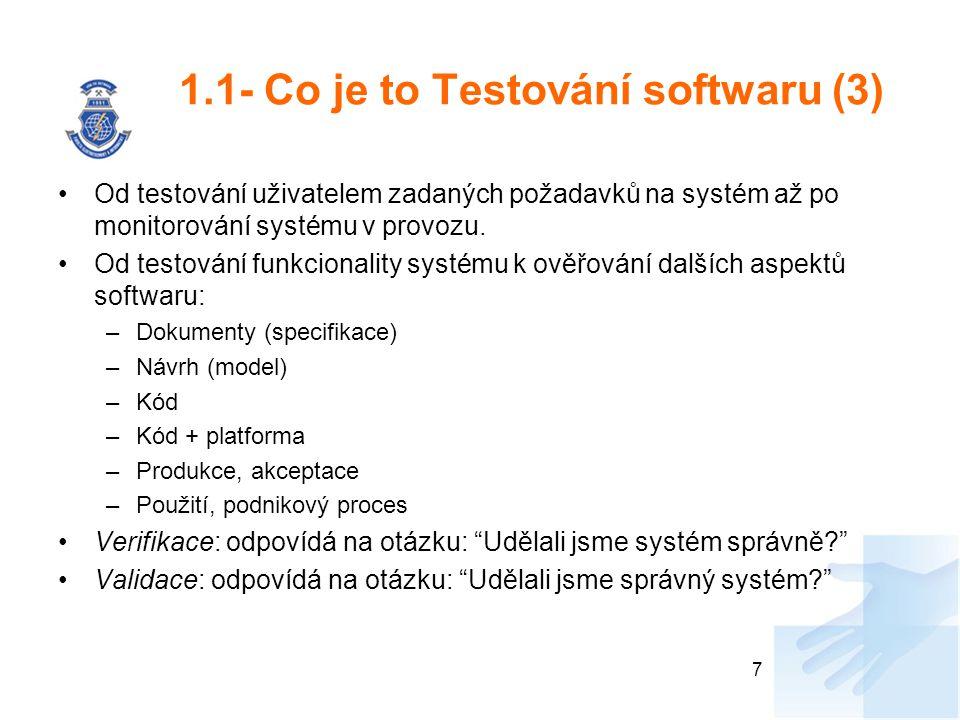 1.1- Co je to Testování softwaru (3)