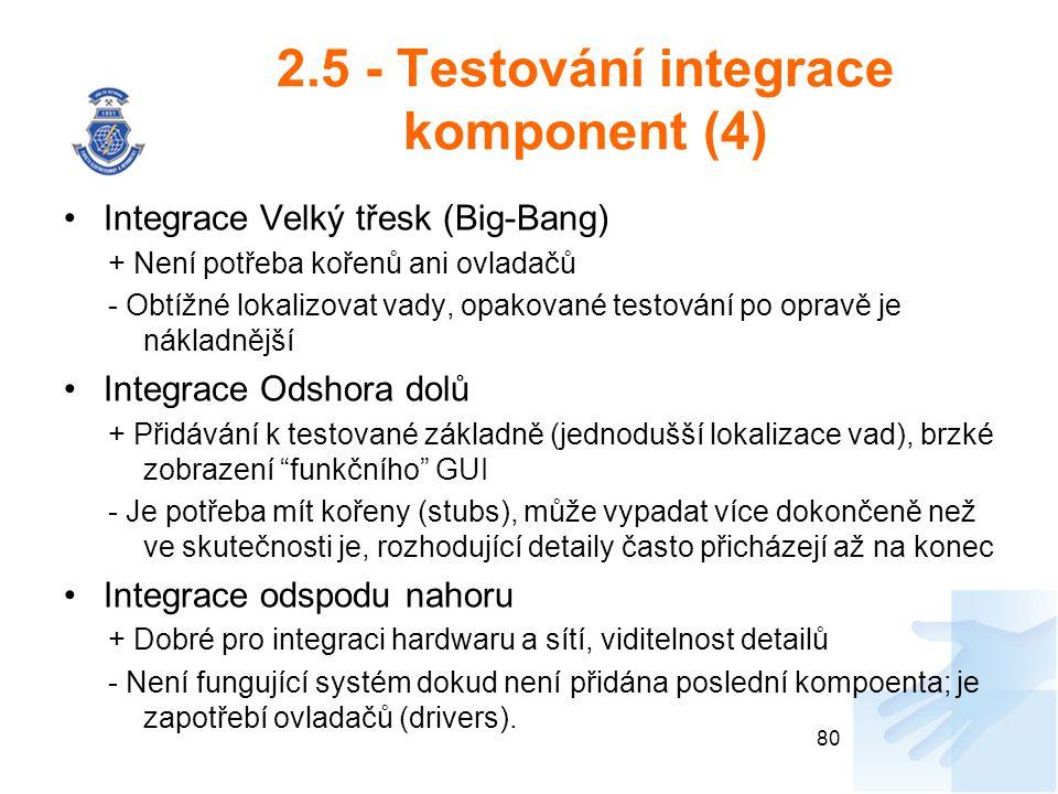 2.5 - Testování integrace komponent (4)