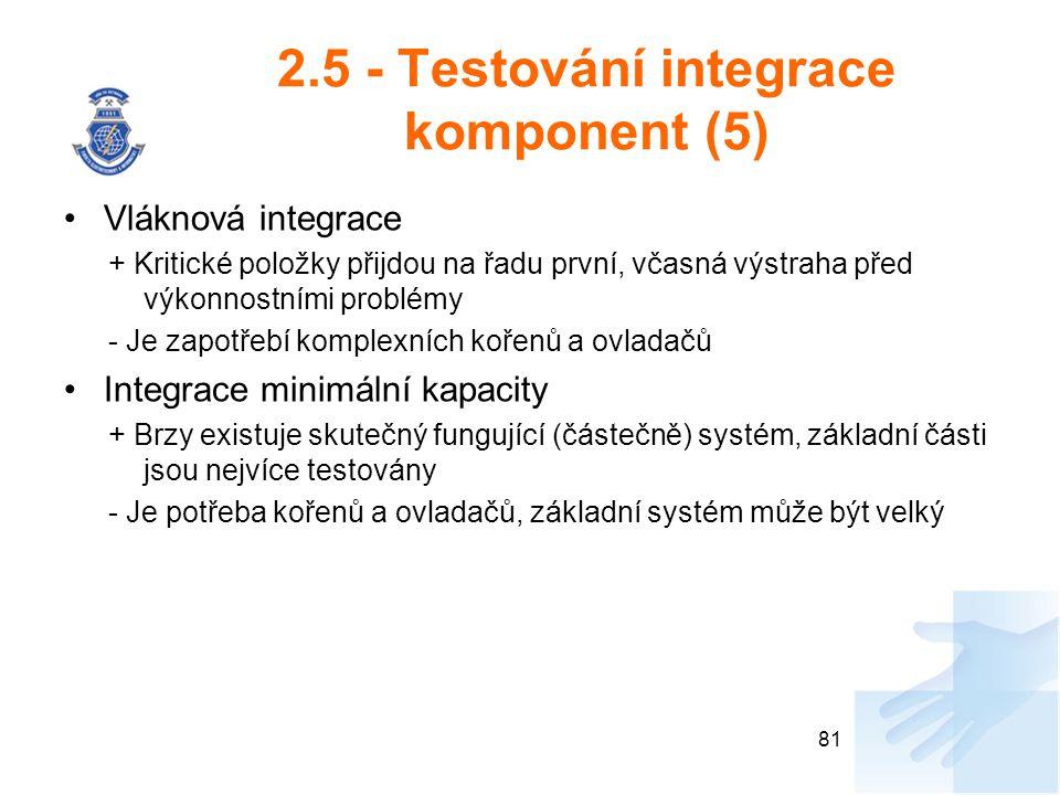 2.5 - Testování integrace komponent (5)
