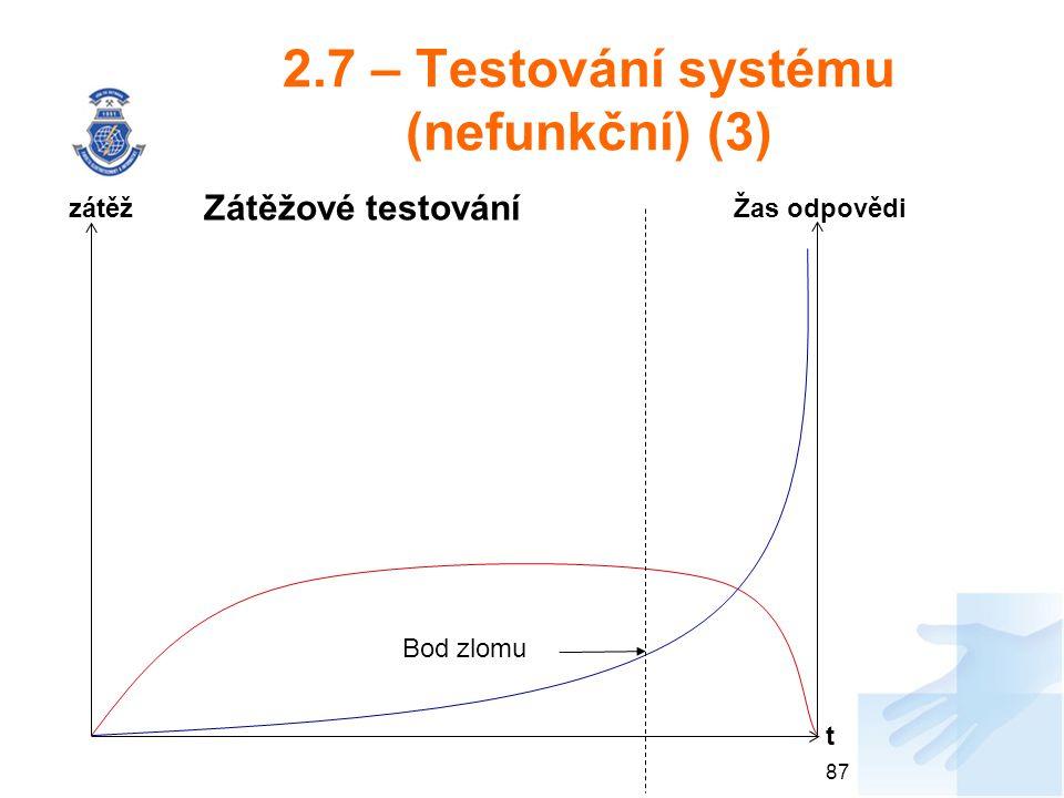 2.7 – Testování systému (nefunkční) (3)