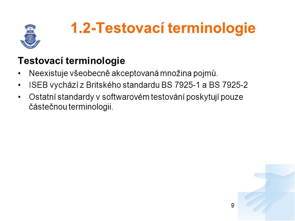 1.2-Testovací terminologie