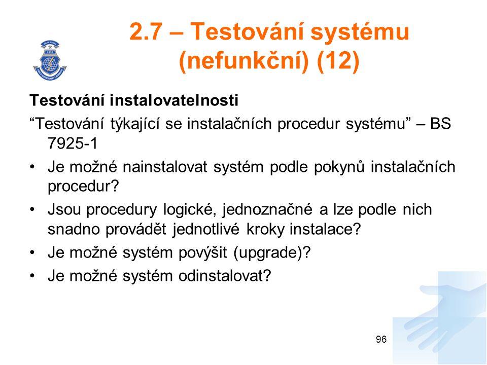 2.7 – Testování systému (nefunkční) (12)