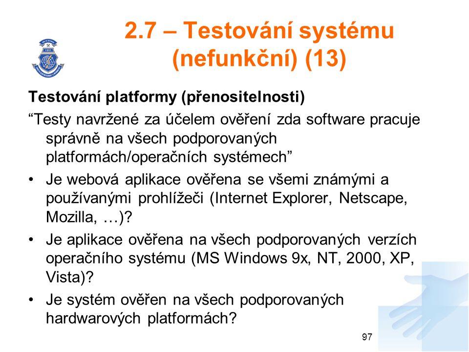 2.7 – Testování systému (nefunkční) (13)