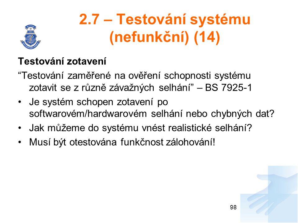 2.7 – Testování systému (nefunkční) (14)