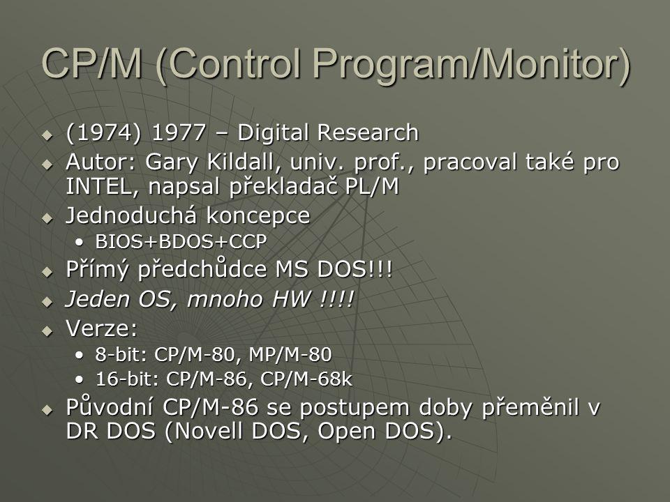 CP/M (Control Program/Monitor)