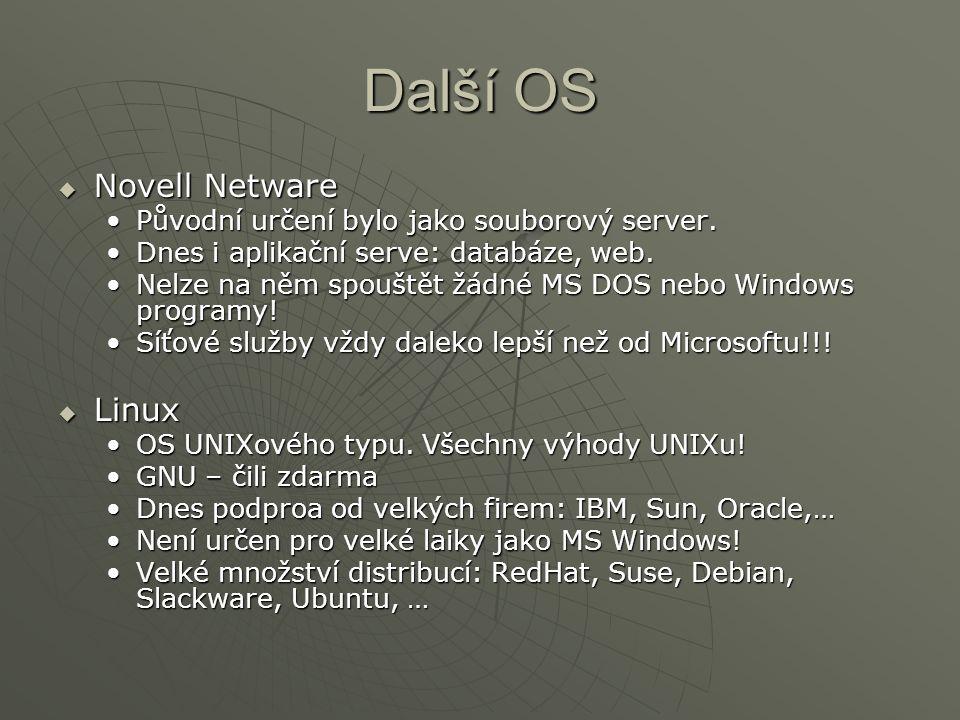 Další OS Novell Netware Linux