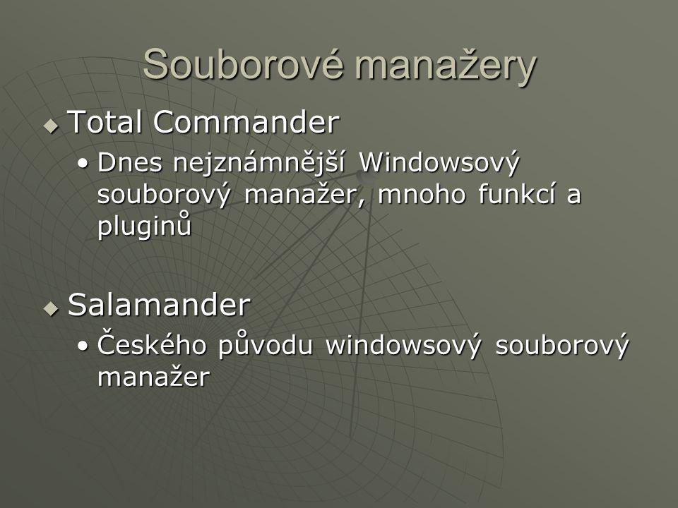 Souborové manažery Total Commander Salamander