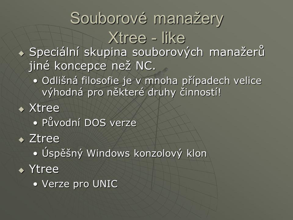 Souborové manažery Xtree - like