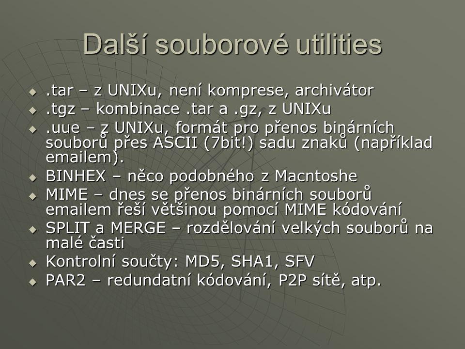 Další souborové utilities