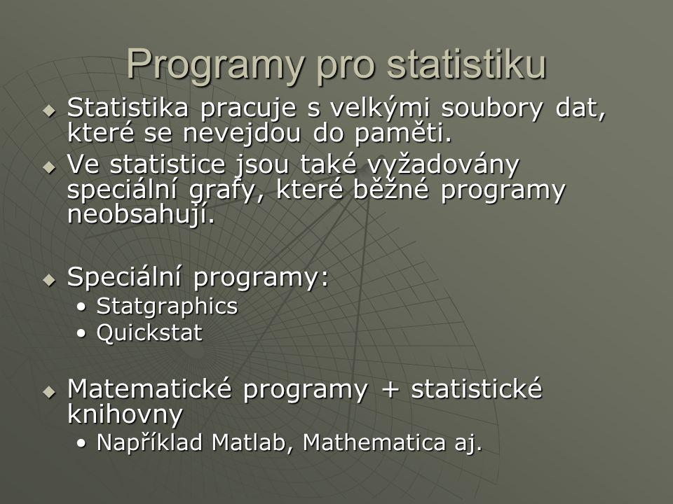 Programy pro statistiku