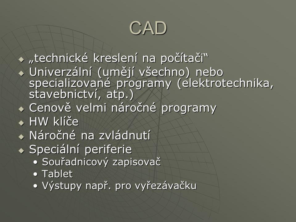 """CAD """"technické kreslení na počítači"""