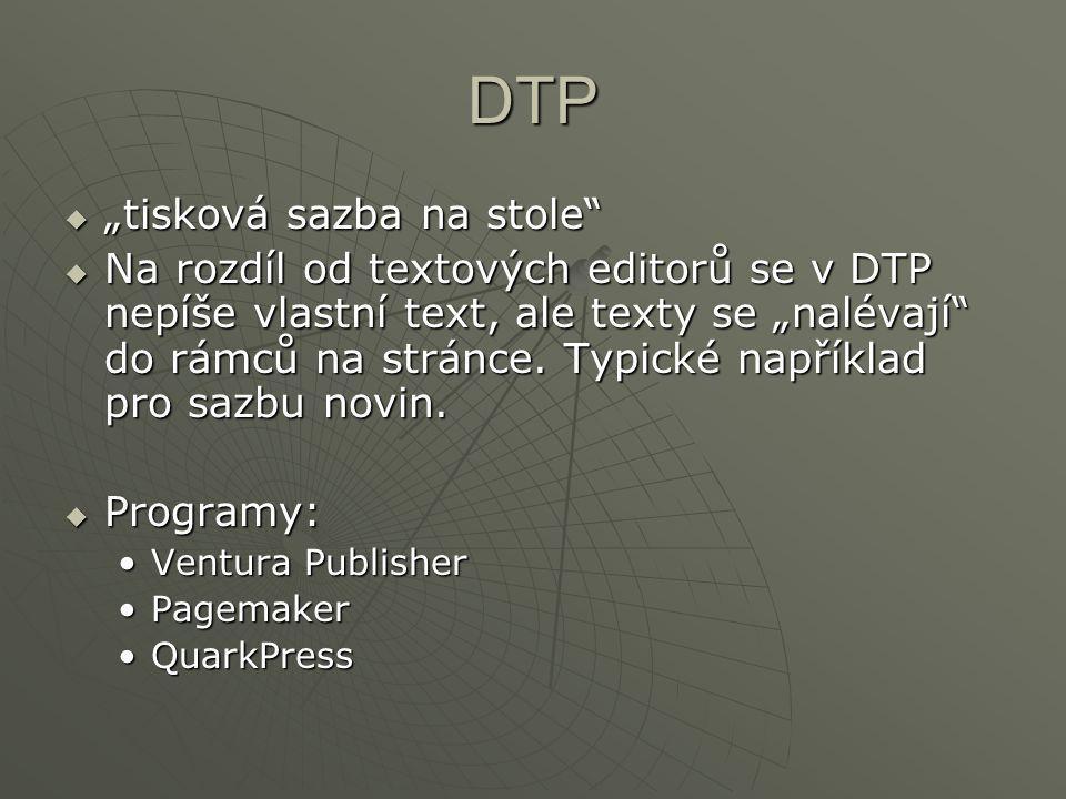 """DTP """"tisková sazba na stole"""
