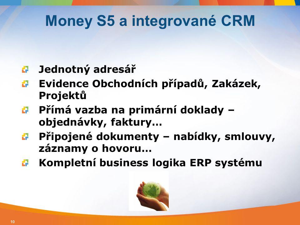 Money S5 a integrované CRM