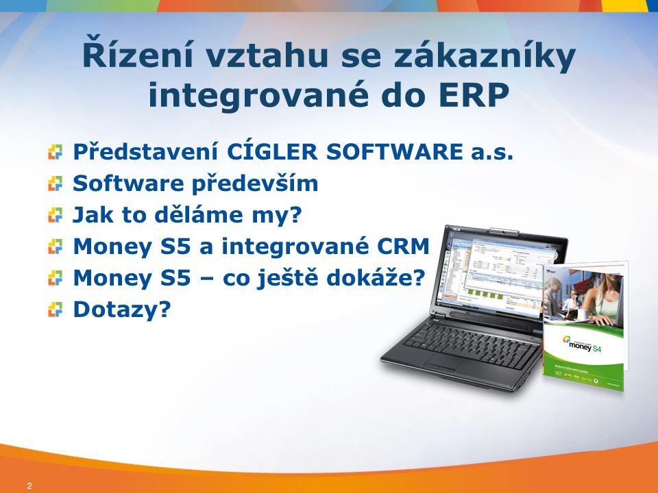 Řízení vztahu se zákazníky integrované do ERP