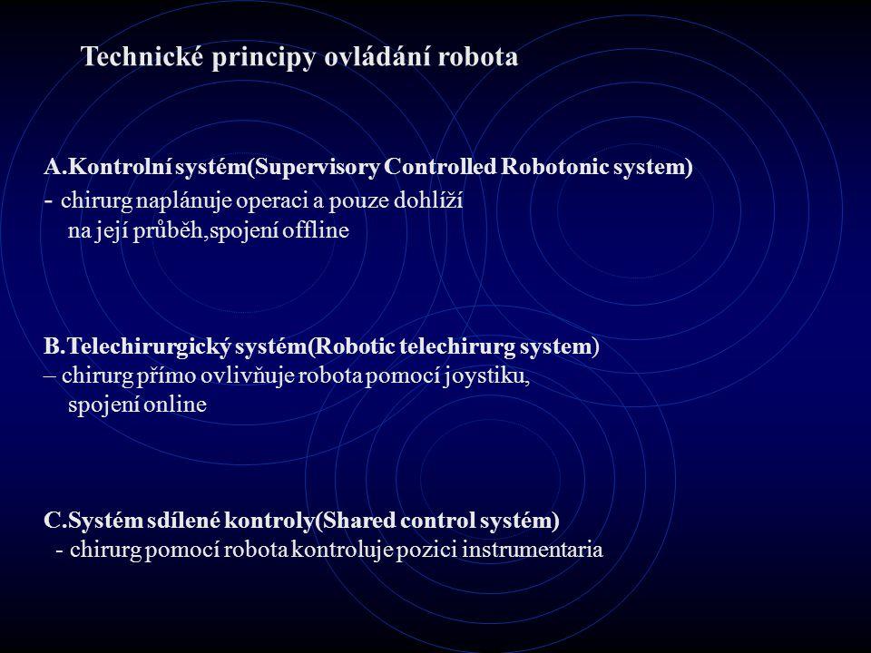 Technické principy ovládání robota