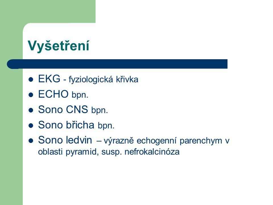 Vyšetření EKG - fyziologická křivka ECHO bpn. Sono CNS bpn.