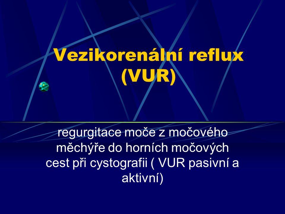 Vezikorenální reflux (VUR)