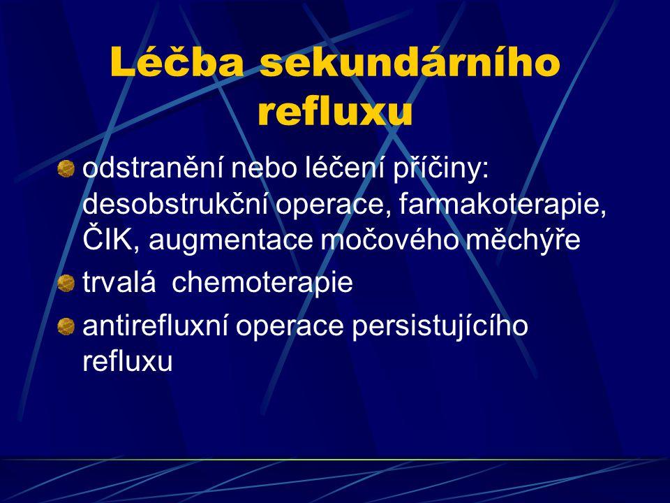 Léčba sekundárního refluxu