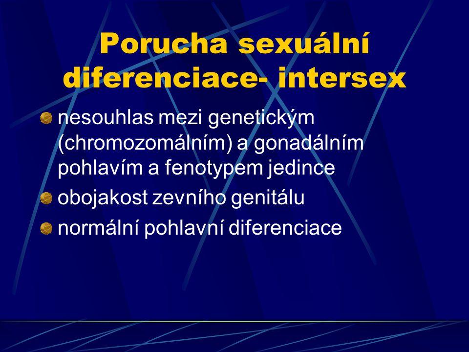Porucha sexuální diferenciace- intersex
