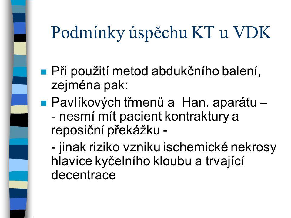 Podmínky úspěchu KT u VDK