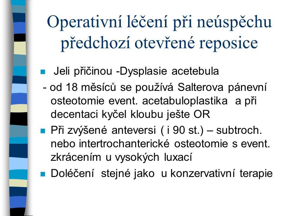 Operativní léčení při neúspěchu předchozí otevřené reposice