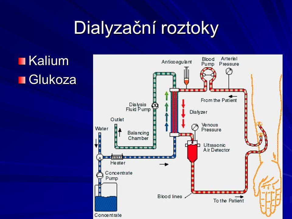 Dialyzační roztoky Kalium Glukoza