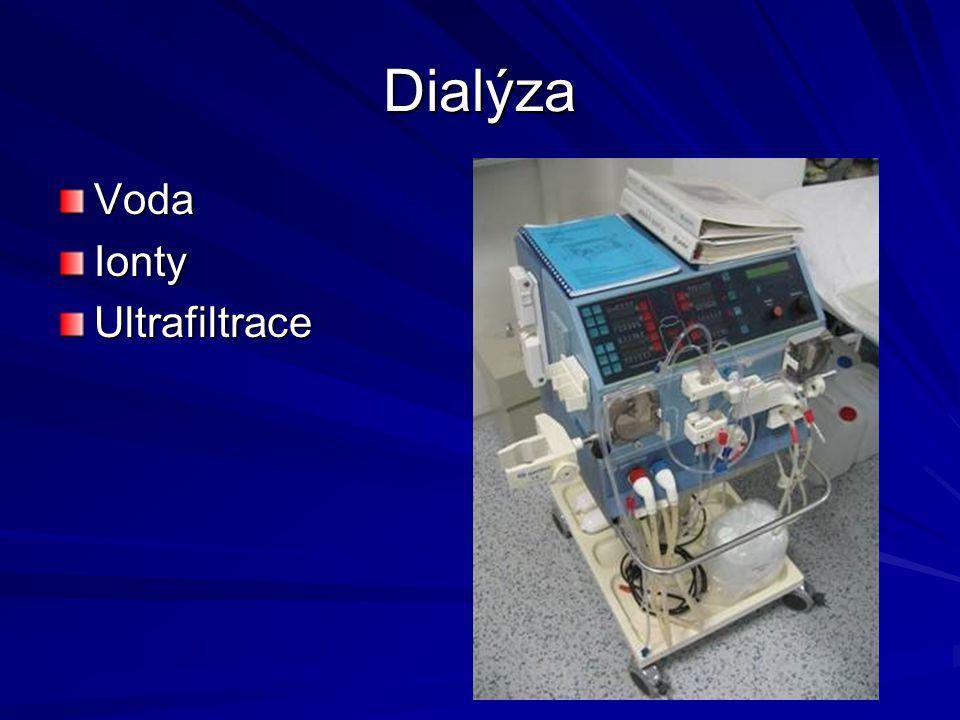 Dialýza Voda Ionty Ultrafiltrace