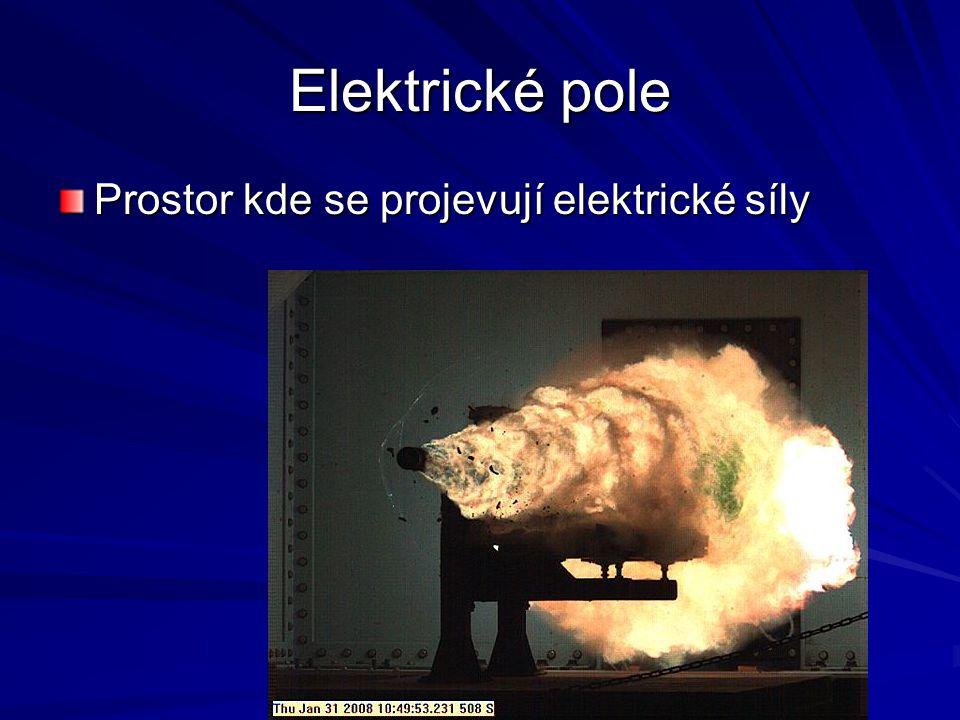 Elektrické pole Prostor kde se projevují elektrické síly