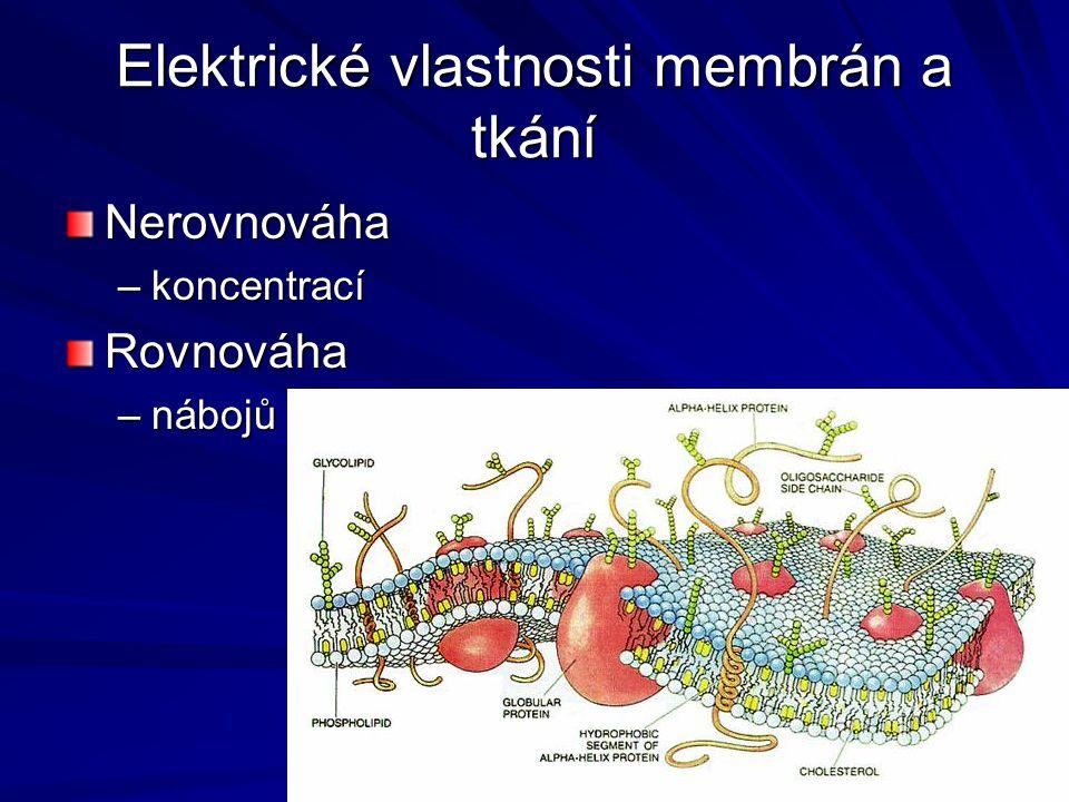Elektrické vlastnosti membrán a tkání