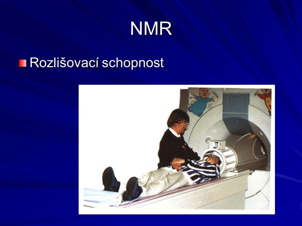 NMR Rozlišovací schopnost