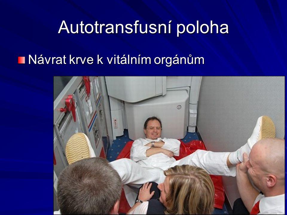 Autotransfusní poloha