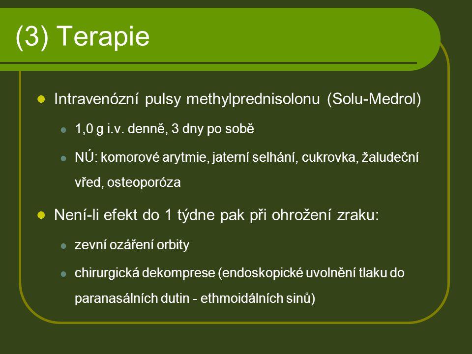 (3) Terapie Intravenózní pulsy methylprednisolonu (Solu-Medrol)