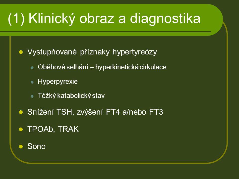 (1) Klinický obraz a diagnostika
