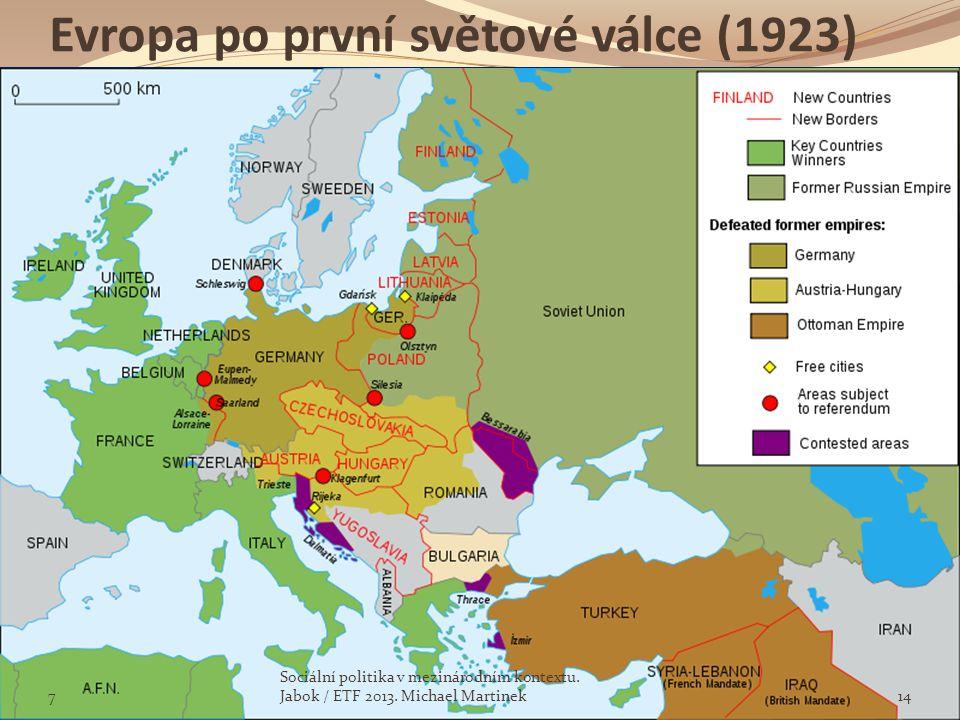 Evropa po první světové válce (1923)