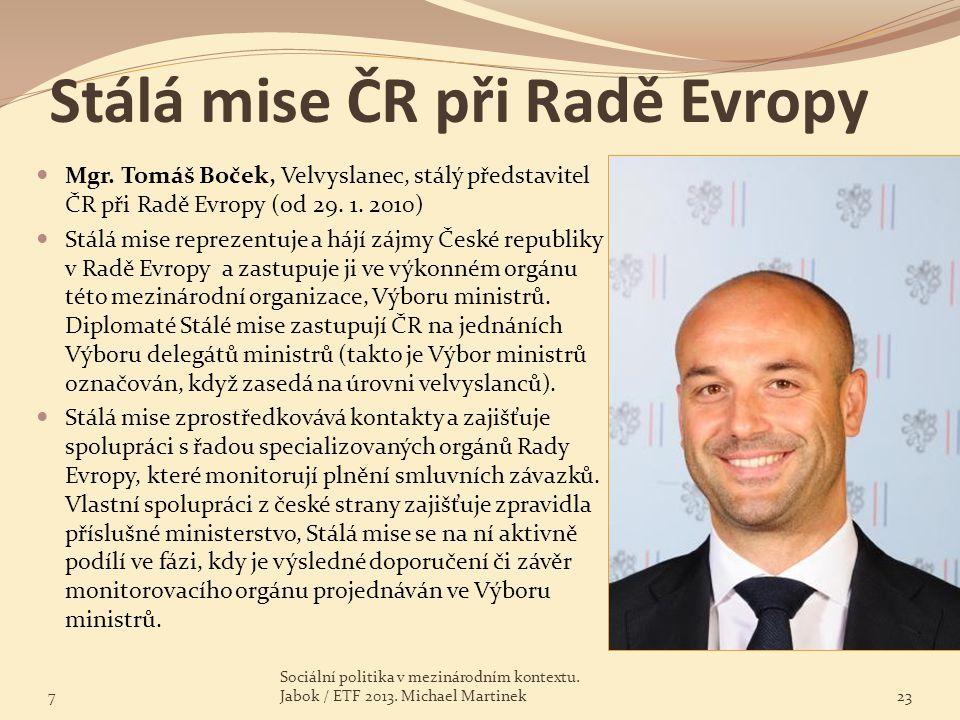 Stálá mise ČR při Radě Evropy