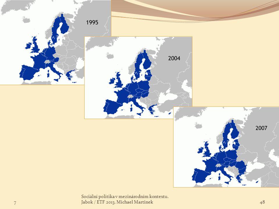 7 Sociální politika v mezinárodním kontextu. Jabok / ETF 2013. Michael Martinek