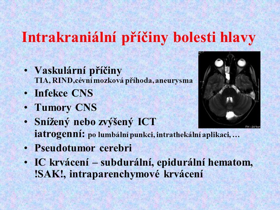 Intrakraniální příčiny bolesti hlavy