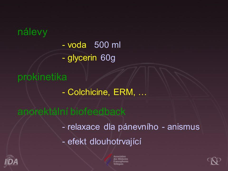 anorektální biofeedback - relaxace dla pánevního - anismus