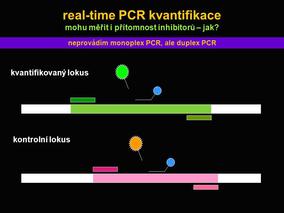 real-time PCR kvantifikace mohu měřit i přítomnost inhibitorů – jak