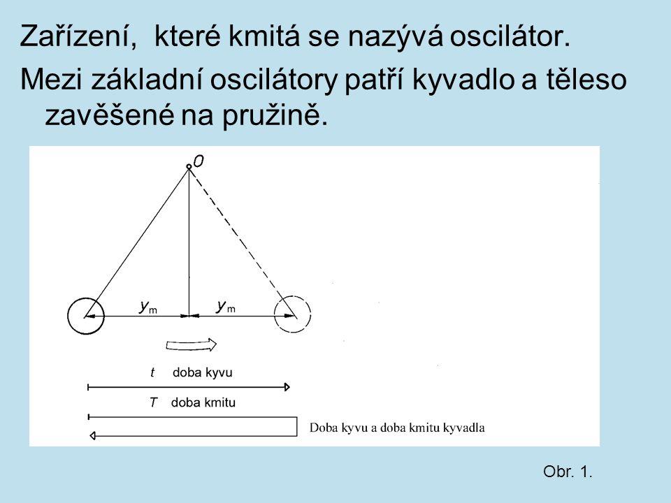 Zařízení, které kmitá se nazývá oscilátor.