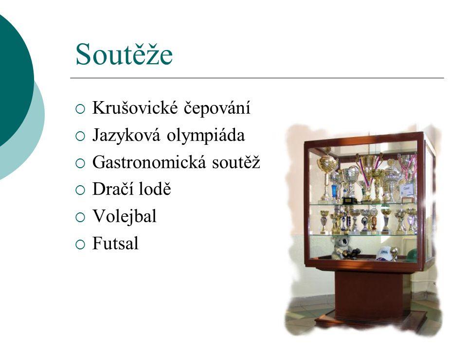 Soutěže Krušovické čepování Jazyková olympiáda Gastronomická soutěž