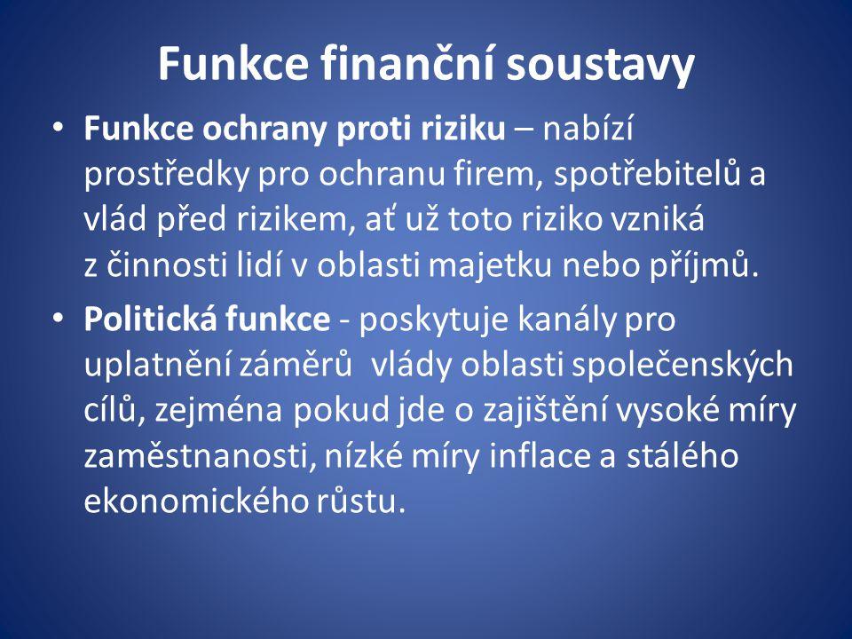 Funkce finanční soustavy
