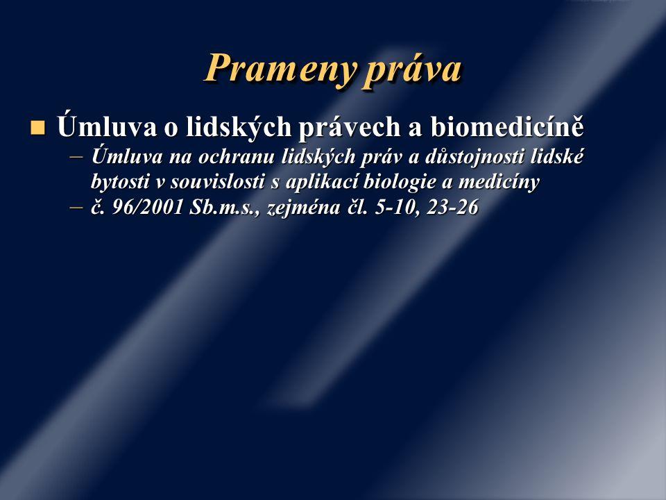 Prameny práva Úmluva o lidských právech a biomedicíně