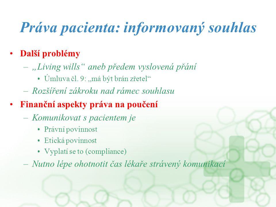 Práva pacienta: informovaný souhlas