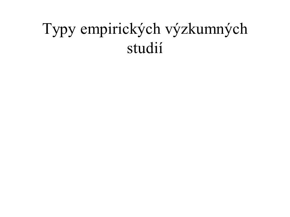 Typy empirických výzkumných studií